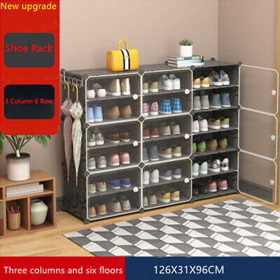 AU34.99 • Buy 6 Tier Cube DIY Shoe Cabinet Rack Storage Portable Stackable Organiser Stand
