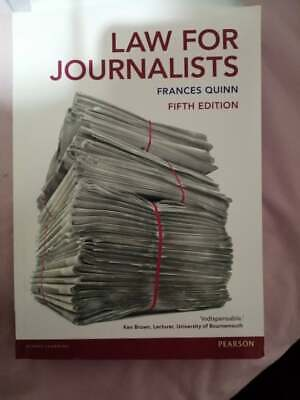£12 • Buy Law For Journalists By Frances Quinn (Paperback, 2015)