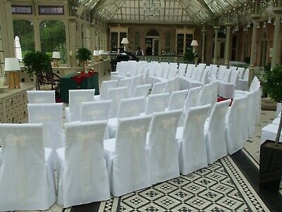 £170 • Buy Wedding/Party Decor - Premium White Chair Covers - Square Top Cane Chair X 100