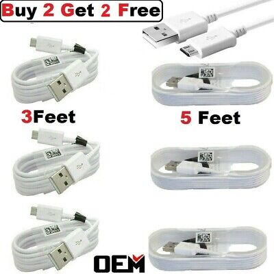$ CDN6.47 • Buy For Samsung Galaxy S7 S6 Edge Note5 Note 4 OEM Fast Charger Micro USB Cable Cord