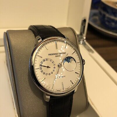 $1300 • Buy Frederique Constant Manufacture Slimline Moonphase Automatic Watch, FC-702