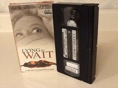 $ CDN15.87 • Buy LYING IN WAIT (VHS Not Rated) Rutger Hauer, Virginia Madsen,Shannon Whirry