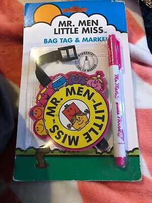 AU14.40 • Buy Mr Men,Little Miss Bag Tag & Marker Freepost To59