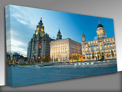 £34 • Buy Royal Liver Building  UK Liverpool Panoramic Canvas Wall Art Picture Print
