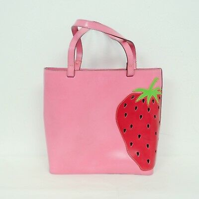 Lamarthe Womens Purse Bag Small Tote Strawberry Pink Leather Quirky  • 35.76£