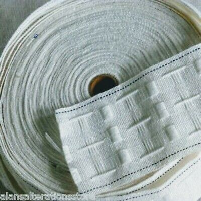 Rufflette Curtain Tape 75mm/ 3inch By The Metre • 0.99£