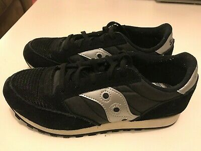 Saucony Shadow Black & Silver Trainers Size 3.5, Very Good Condition. • 25£