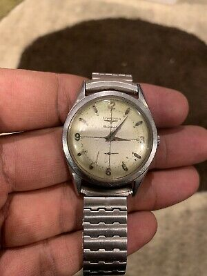 $ CDN263.33 • Buy 1960 Vintage Longines Automatic, Stainless Steel Dial, Serviced Works Well !!
