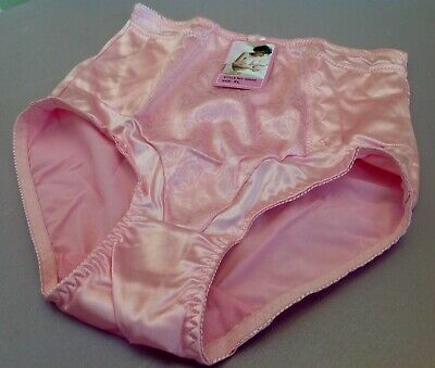 $12.99 • Buy Women Briefs,Control Panties  Ann Diane  Size S.Pink Satin Soft 2 Secret Pockets