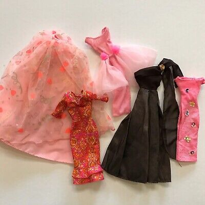 $ CDN12 • Buy Barbie Doll Clothes 90s Fashion Clothing Mattel Vtg Lot Dresses Vintage