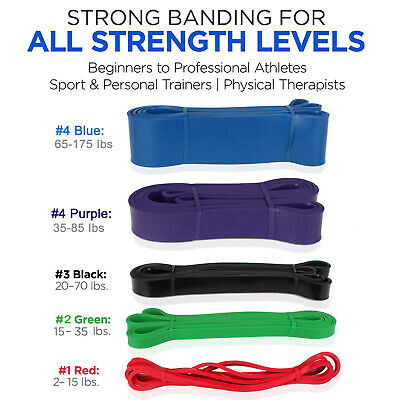 AU19.99 • Buy Resistance Bands | Heavy Duty Exercise Fitness Loop Set For Gym Stretch Yoga Lot
