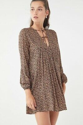 $89.99 • Buy Auguste The Label Cisco Animal Print Babydoll Dress  US 6 AUS 10 New Without Tag