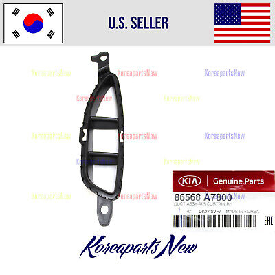 $313.62 • Buy Front Bumper Grille Air Duct Right PASSENGR 86568A7800 ⭐OEM⭐ Kia Forte 2017-2018