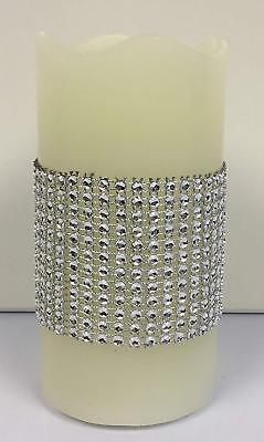 Diamante Sparkle LED Flameless Pillar Candle • 5.99£