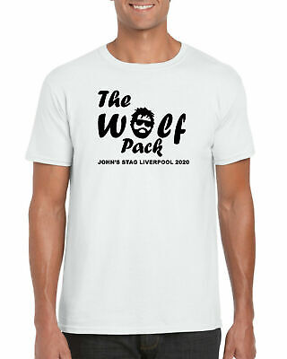 Personalised The Wolf Pack Hangover T-Shirt, Stag Hen Party Birthday Adults Top • 10.99£