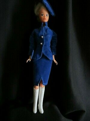 $ CDN33.02 • Buy Vintage Barbie With Tuesday Taylor Outfit Blue Velvet And TT Purse