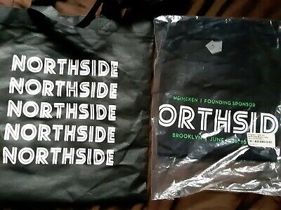 Northside (heineken) Music Festival Brooklyn NY 2013-new T Shirt (S)+ Tote Bag • 9.50£