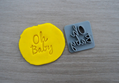 AU5.39 • Buy Oh Baby Font 3 Cookie Fondant Embosser Stamp