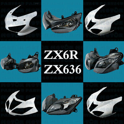 $159 • Buy Headlight Headlamp/Upper Fairing For Kawasaki ZX6R ZX636 2000-2003-2007-2018