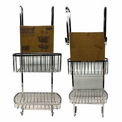 AU25.50 • Buy Neat& Tidy Over Door 2 Tier Shower Caddy Rack Chrome Bath Shelf Storage
