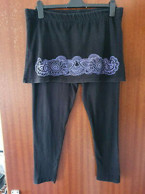 Joe Browns Leggings With Attached Skirt Size 16 • 10£