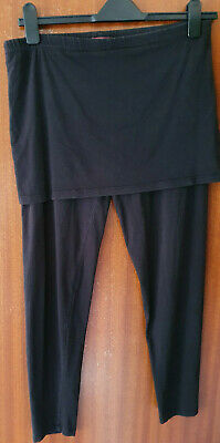 Joe Browns Black Leggings With Attached Skirt Size 18 • 8£