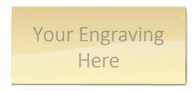 ENGRAVED METAL TROPHY PLAQUE: Gold Silver: MULTIPLE SIZES: Plate For Trophies • 3.99£