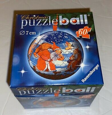$8.99 • Buy Ravensburger Christmas Puzzle Ball, Santa & Mrs. Clause, 60 Pieces, 2005, NIB
