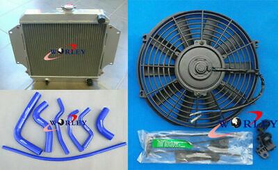 AU230 • Buy For SUZUKI SIERRA 1.0 1.3 SJ410/413 81-96 MT Aluminum Radiator + Blue Hose + Fan