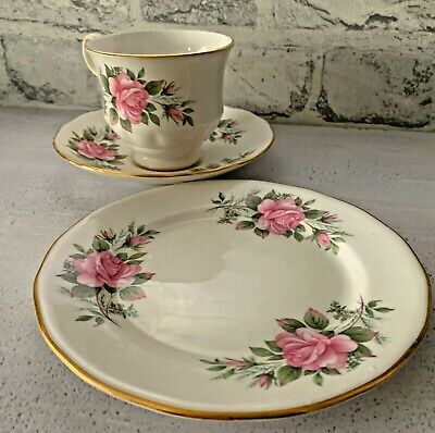 Queen Anne Pink Roses Ridgway Pottery Made In England Pattern 8540 15 Pieces • 35£