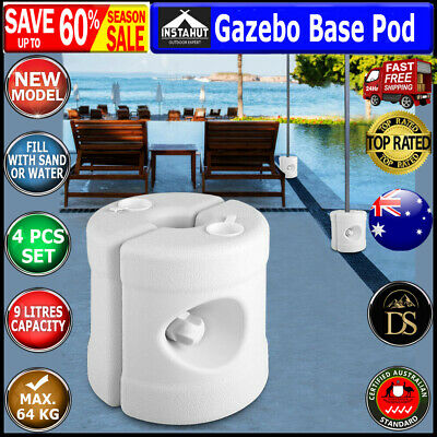 AU66.78 • Buy NEW 4x White Plastic Gazebo Base Weight Pod, Can Be Filled With Water Or Sand