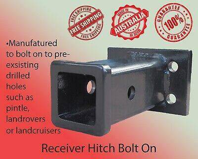 AU46 • Buy Bolt On Trailer Hitch Receiver Tube Boat Tow Hitch 4WD ATV Towing Tube 1300kg