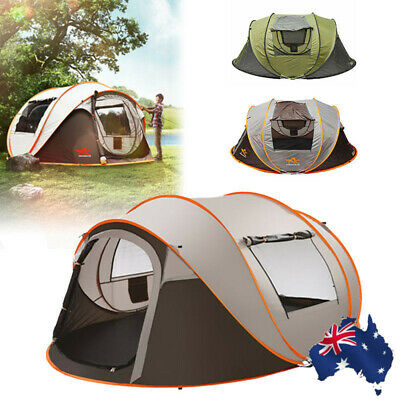 AU108.78 • Buy Waterproof 5-8 Person Automatic Instant Open Shade Camping Family Tent Hiking
