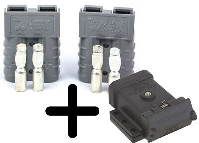 AU59.95 • Buy 120A Anderson External Canopy Mounting Kit Dust Cap Cover + 2x 120A Grey Plugs