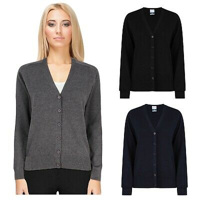 £7.95 • Buy Ladies Womens Cardigan Long Sleeve Warm Button Knitted Knit Size New Girls