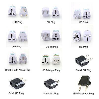 HOT SALE Travel Plug 3-Pin To EU European Euro 2-Pin Socket Converter Adapter • 2.49£