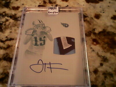 $90 • Buy Justin Hunter National Treasures 1/1 Print Plate Titans Logo Patch Auto