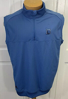 $38 • Buy Adidas Golf Adi CLimaCool Vest Men's Size L, Large Blue NWT New 1/4 Zip