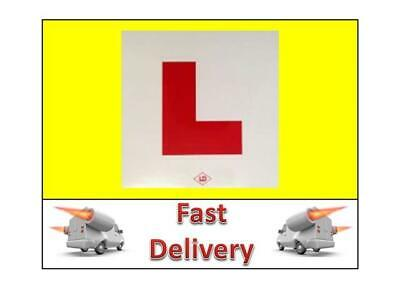 1 L Plate Motorcycle Scooter Car Lorry Sticker Learner L Plates 1 X Stick On • 1.99£