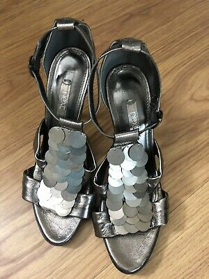 Ladies Next Pewter Colour Shoes Size UK4 EU 37 • 9.50£