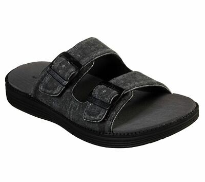 NEW SKECHERS Men Clogs Slipper Mules Slip On Sandals STATUS 1.5-RAINZ Black • 27.99£