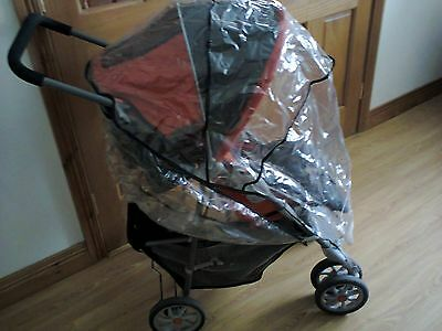 Graco Orange&grey Travel System,pram,car Seat& Base,foot Muff,rain Cover&parasol • 20£