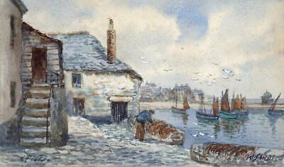 ST IVES CORNWALL Watercolour Painting T H VICTOR W SANDS 20TH CENTURY • 79.99£
