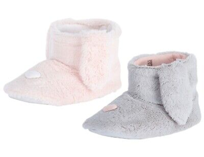 £9.95 • Buy Ladies Boot Slippers Ex Store Soft Warm Cosy Fluffy Girls Womens Pink Grey Size