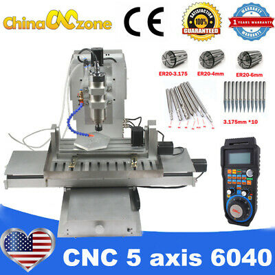 $ CDN4262.96 • Buy MINI CNC 5Axis 6040 2200W Engraving Milling Machine For Aluminum Router US Stock
