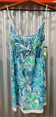 $17.99 • Buy Lilly Pulitzer Blue Floral Nightgown Size Small