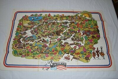 $131.17 • Buy Vintage AUTOGRAPHED OPRYLAND USA 22  X 36  Souviner Collectible MAP Nashville TN