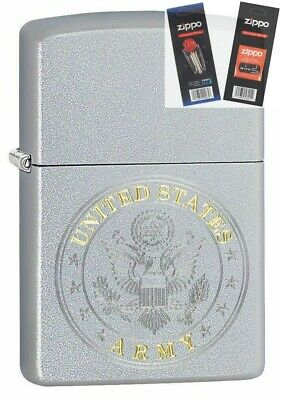 $24.83 • Buy Zippo 49153 United States Army Seal Design Lighter With *FLINT & WICK GIFT SET*