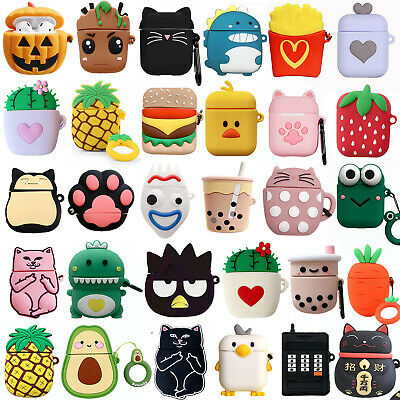 $ CDN6.34 • Buy 3D Case Cute Fruit Cartoon Airpods Shockproof Earphone Cover For AirPods 1 2