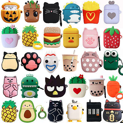 $ CDN6.54 • Buy 3D Case Cute Fruit Cartoon Airpods Shockproof Earphone Cover For AirPods 1 2
